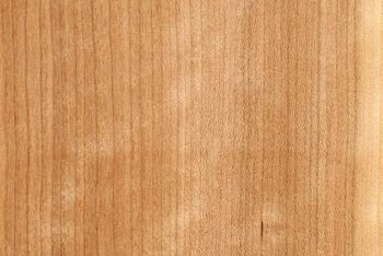 Alder is a common cabinet hardwood.