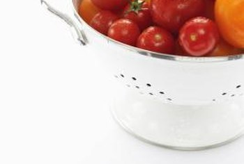Cherry tomatoes come in many sizes and colors and are often eaten raw or added to salads.
