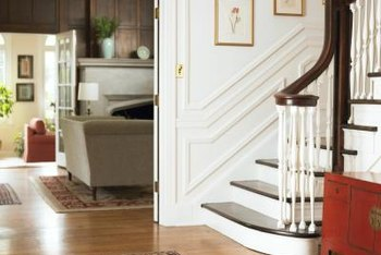 You can also use picture frame molding on staircase walls.