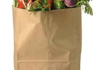 Brown grocery bags create a leathery faux finish on your project.