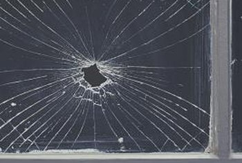 Remove every trace of the broken glass before installing a new pane.