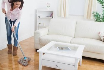 Mopping cork is safe if you dry the floor immediately.