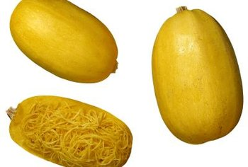 Mature spaghetti squash has an even yellow or cream color.
