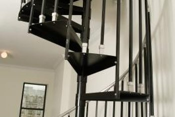 Replacing ornate balusters with a simple, understated style can make your wrought-iron staircase look more modern.