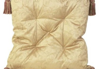 Many decorative pillows are made from delicate fabrics.