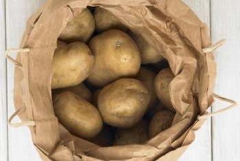 Potatoes can produce well in a small space.