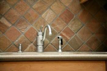 Faucets installed in granite are often individual pieces.