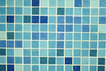 Glass mosaic tiles can add a bright splash of color to your kitchen.