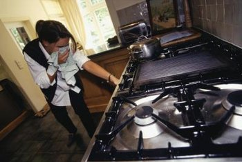 A gas smell from your oven is a warning to stop using it.