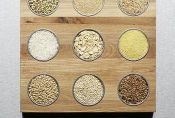 Grains like brown rice aren't recommended on the Paleo diet.