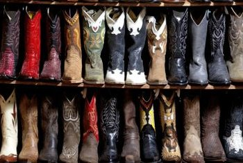 Cowboy boots are integral in country-western decor.