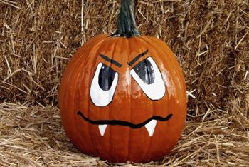 Use markers to create faces on pumpkins without carving.