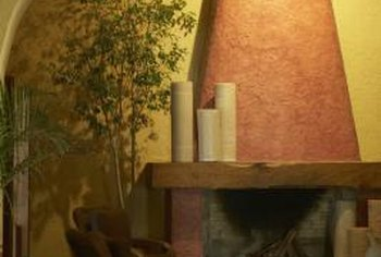 Soft yellow walls combined with warm earthy hues create a cozy ambiance.