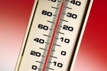 The temperature on a thermometer is a result of location, location, location.