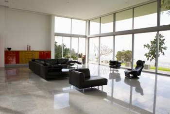 Black leather couches typically accent contemporary spaces.
