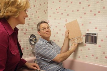 Bring tile samples home to see how they might look in the shower.