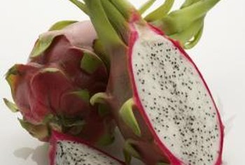 Queen of the night cactus produces juicy edible fruits called dragon fruit.