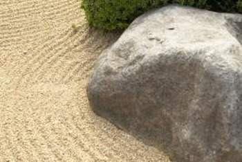 Simple elements create a calming effect in a Zen garden.
