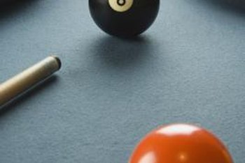 A large eight ball offers an iconic embellishment for a billiard-room wall.