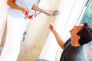 Brighten the edges of your shower by painting them.