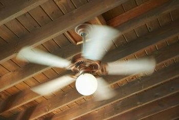 Ceiling fans can become loose over time.