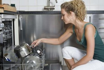 Your dishwasher should be fastened securely to cabinets or the counter.