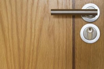 Fingerprints tend to accumulate around door knobs and latches.