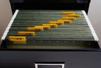 Add a lock to your filing cabinet to keep your documents secure.