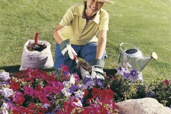 Raised flower beds can be built in any shape.