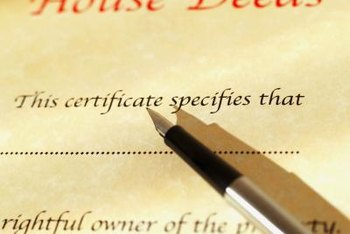 A deed is used to legally change or transfer title to real property.