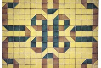 Inlay tile designs can be simple or elaborate.