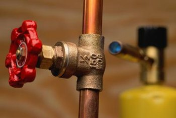 Soapy water can be used to check a copper supply line.