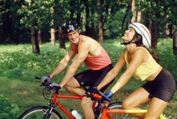 Cycling boosts metabolism and is easy on your joints.