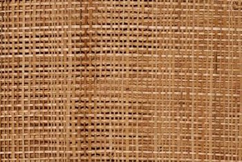 Grass cloth has a textured surface woven from natural fibers.