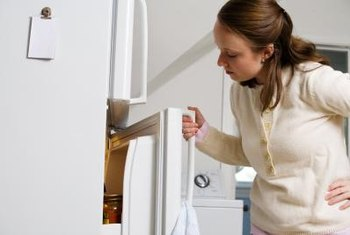 An empty refrigerator can give you a clue about whether a property is abandoned.