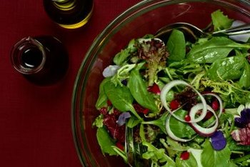 Top salads with balsamic vinegar to help lose weight.