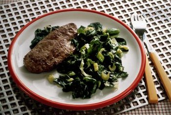 Liver and spinach are both excellent dietary sources of iron.