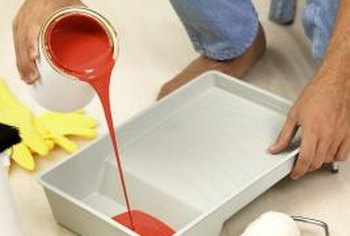 Painted floors are an inexpensive flooring option.