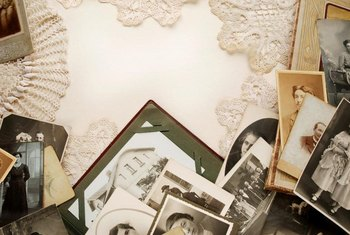 Tea-dyed lace can also be used to matte vintage photographs.