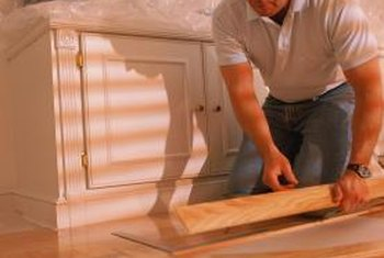 Choose engineered flooring boards for a basement installation.