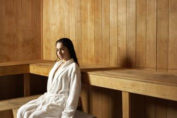 Wood walls can withstand the heat in saunas.