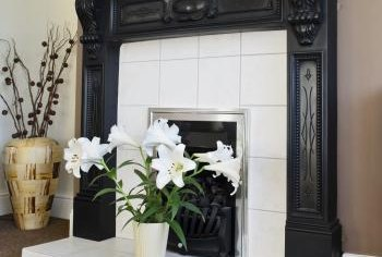 Older, remodeled homes often have closed-off fireplaces.