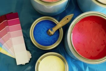 Better to spill latex paint than the more resilient oil-based paint.