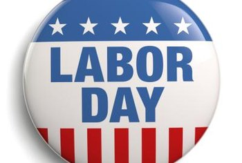 Red, white and blue color schemes are typical for Labor Day celebrations.