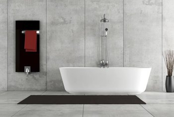 A bathtub is easiest to clean immediately after a bath.