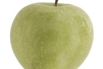 """Granny Smith"" apples keep their green color in all stages of growth and maturity."