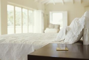 A lace ruffled edge makes a plain pillow a special pillow.