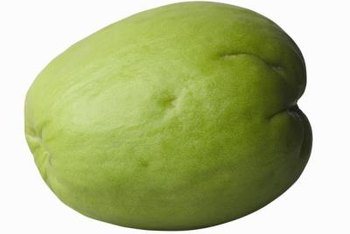 Young chayote are used cooked or raw in salads.