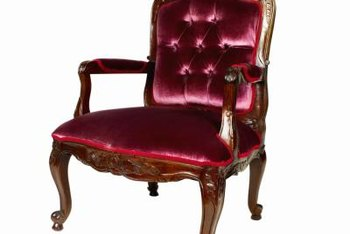 Increase the value of your antique chair by replacing the fabric.