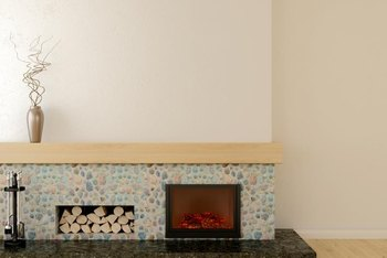 Mantel height is dependent on several factors, the most important of which is the fireplace type.